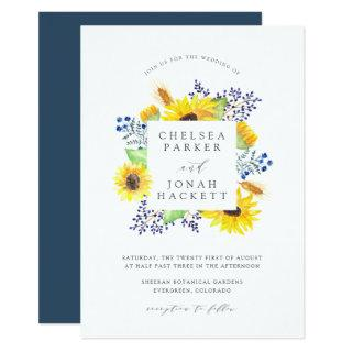 Flowerfields Frame Wedding Invitation