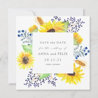 Flowerfields Square Save the Date Card