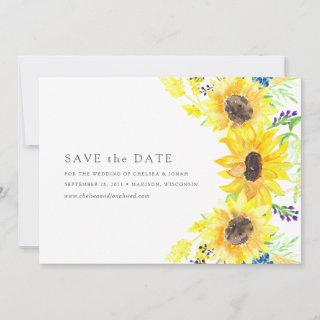 Flowerfields | Watercolor Sunflower Save the Date