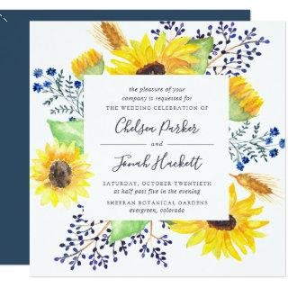 Flowerfields Wedding Invitations | Square