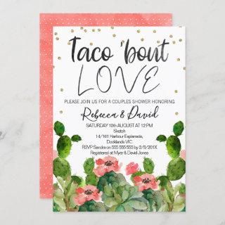Flowering cactus taco bout love couples Invitations