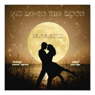 Fly Me to the Moon Wedding Invitation