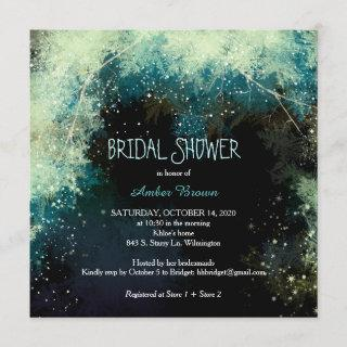 Forest Star Showers Indie Bridal Shower Invitation