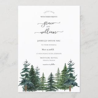 Forest Trees Calligraphy Script Wedding