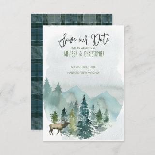 Forest Wonder Rustic Save Our Date  Invitation
