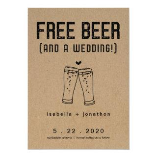Free Beer Funny Save the Date Card