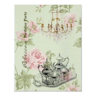 french country garden birthday tea party Invitations