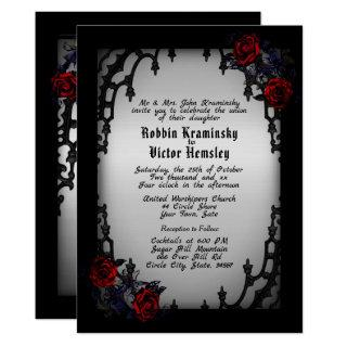 French Quarter Goth Wedding Invitations