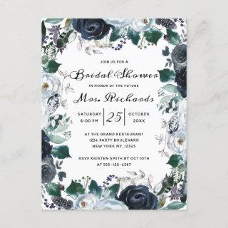 French Twilight Floral Future Mrs Bridal Shower Invitations Postcard