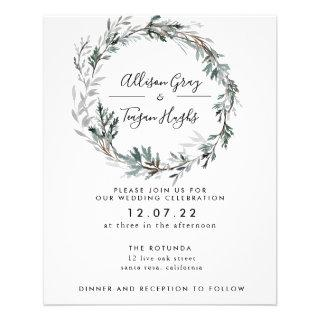 Frosted Wreath Wedding  | Budget Flyer