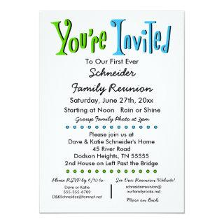 Fun Family Reunion Party or Event Invitations
