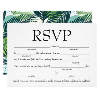 Fun Fill-in-the-Blank RSVP w/Song Request Invitations