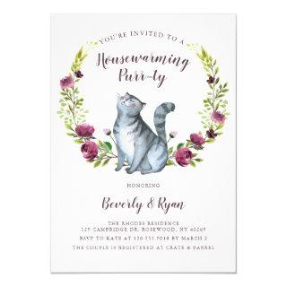 Fun Housewarming Purrty Party Cat Theme Invitation