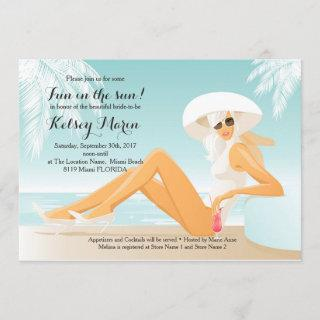 Fun in the Sun Bridal Shower Pool Party Invitation