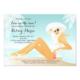 Fun in the Sun Bridal Shower Pool Party Invitations