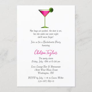 Fun Pink Martini Cocktail Hour Bachelorette Party