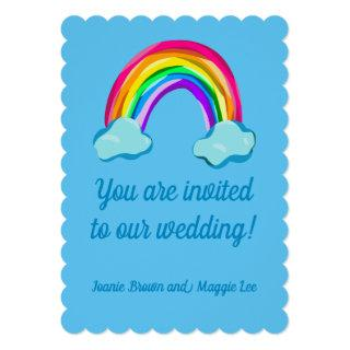 Fun Rainbow Wedding Invitation