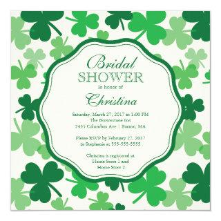 Fun Shamrock Irish Bridal Shower Invitations