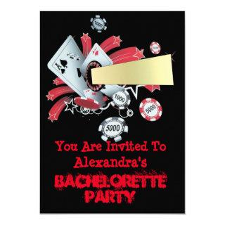 Fun Vegas poker casino chip bachelorette party Invitation