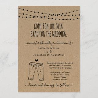 Funny Beer Theme Wedding Invitation