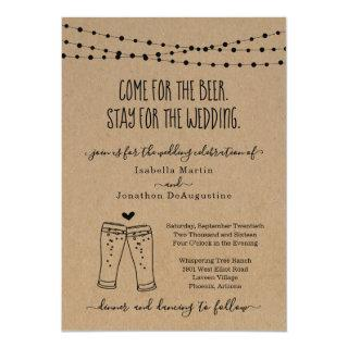 Funny Beer Theme Wedding Invitations