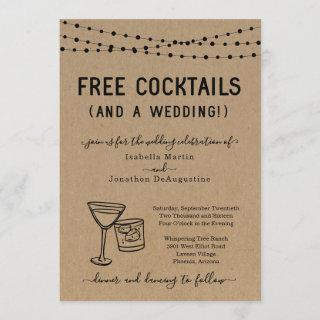 Funny Free Cocktails and a Wedding Invitations
