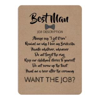 Funny Groomsman or Best Man Job Proposal Invitations