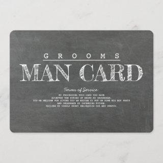 Funny Groomsman or Best Man Proposal Card
