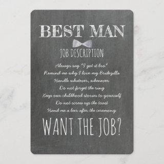 Funny Groomsman or Best Man Proposal Invitations