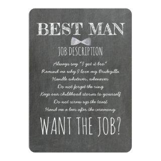 Funny Groomsman or Best Man Proposal Invitation