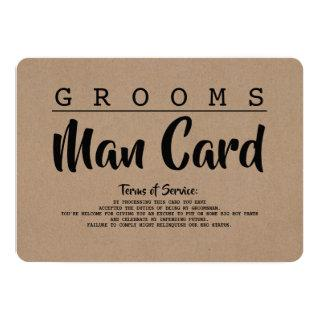 Funny Groomsman or Best Man Service Proposal Card