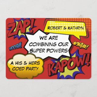 Funny His & Hers Bachelor/Bachelorette Party Invitations
