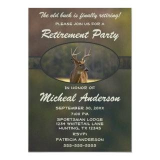 Funny Hunting Animal Camo Retirement Invitations