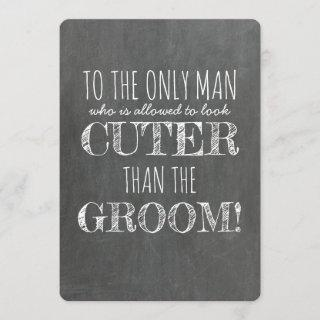 Funny Junior Groomsman Proposal Card