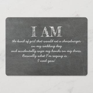 Funny the Kind of Girl Bridesmaid Proposal Card