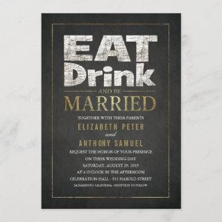 Funny wedding  Eat Drink Be Married