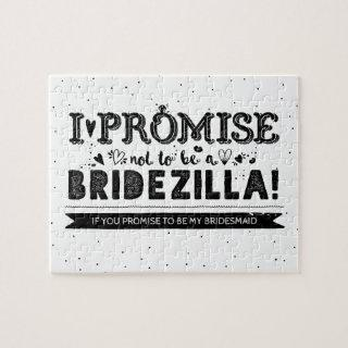 Funny Will You Be My Bridesmaid Proposal Jigsaw Puzzle
