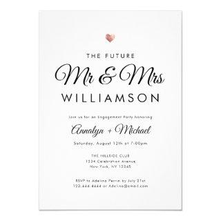 Future Mr and Mrs Rose Gold Engagement Party Invitation