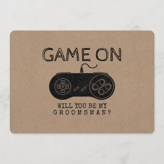 Game On - Funny Gamer Groomsman or Best Man Invitations