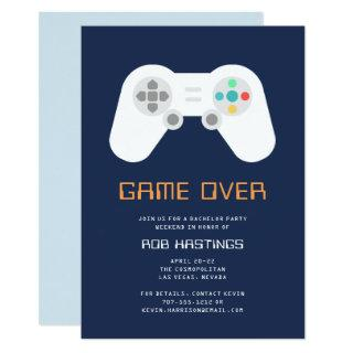 Game Over | Bachelor Party Invitations