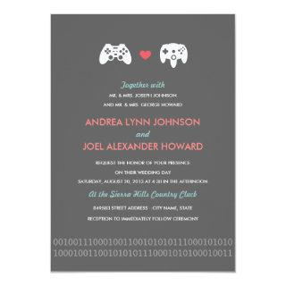 Gamer Controller Love Wedding Invitation