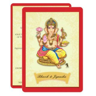Ganesha Indian Wedding Invitation