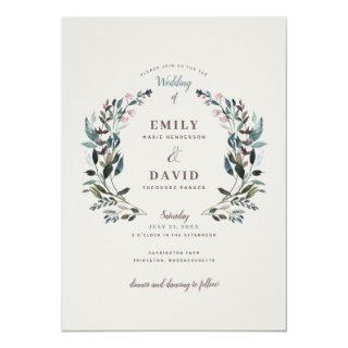 Garden Crest | Eggshell | Wedding Invitations