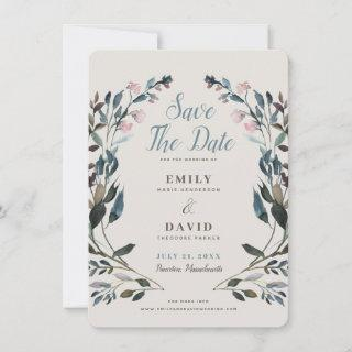 Garden Crest | Eggshell | Wedding Save The Date
