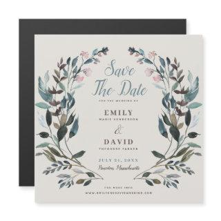 Garden Crest | Eggshell | Wedding Save The Date Magnetic Invitations