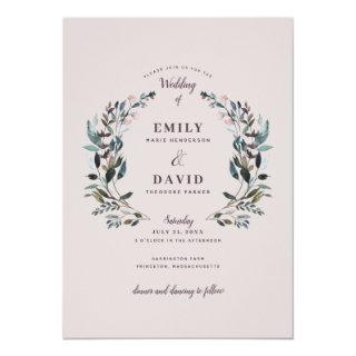 Garden Crest | Mauve  Wedding Invitation