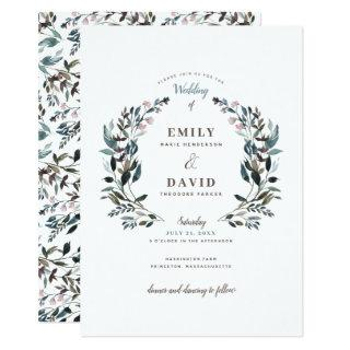 Garden Crest | White | Wedding Invitations