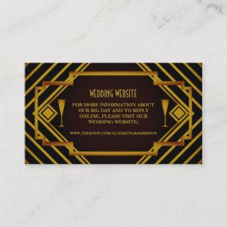 Gatsby Gold 2020's Wedding Website Enclosure Card