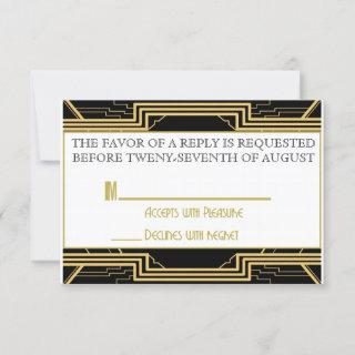 Gatsby Gold Wedding Suite Ceremony RSVP Party