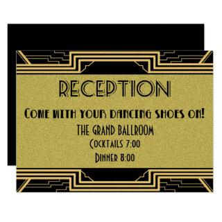 Gatsby Gold Wedding Suite Details Reception Party Invitations